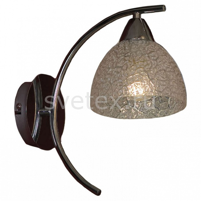 Бра LussoleНастенные светильники<br>Артикул - LSF-1601-01,Бренд - Lussole (Италия),Коллекция - Zungoli,Гарантия, месяцы - 24,Время изготовления, дней - 1,Ширина, мм - 150,Высота, мм - 300,Выступ, мм - 270,Тип лампы - компактная люминесцентная [КЛЛ] ИЛИнакаливания ИЛИсветодиодная [LED],Общее кол-во ламп - 1,Напряжение питания лампы, В - 220,Максимальная мощность лампы, Вт - 60,Лампы в комплекте - отсутствуют,Цвет плафонов и подвесок - белый с рисунком,Тип поверхности плафонов - матовый,Материал плафонов и подвесок - стекло,Цвет арматуры - хром,Тип поверхности арматуры - глянцевый,Материал арматуры - металл,Количество плафонов - 1,Возможность подлючения диммера - можно, если установить лампу накаливания,Тип цоколя лампы - E27,Класс электробезопасности - I,Степень пылевлагозащиты, IP - 20,Диапазон рабочих температур - комнатная температура,Дополнительные параметры - светильник предназначен для использования со скрытой проводкой<br>