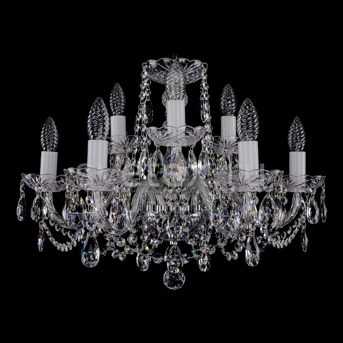 Фото Подвесная люстра Bohemia Ivele Crystal 1402 1402/6_3/195/Ni