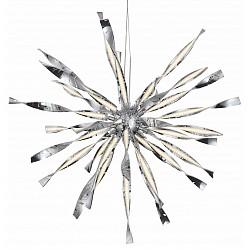 Подвесной светильник ST-LuceСветодиодные<br>Артикул - SL927.113.24,Бренд - ST-Luce (Китай),Коллекция - Raggio,Гарантия, месяцы - 24,Высота, мм - 1100-1500,Диаметр, мм - 1000,Размер упаковки, мм - 700x270x240,Тип лампы - светодиодная [LED],Общее кол-во ламп - 25,Максимальная мощность лампы, Вт - 4,Лампы в комплекте - светодиодные [LED],Цвет плафонов и подвесок - белый,Тип поверхности плафонов - матовый,Материал плафонов и подвесок - акрил,Цвет арматуры - хром,Тип поверхности арматуры - глянцевый,Материал арматуры - металл,Возможность подлючения диммера - нельзя,Класс электробезопасности - I,Общая мощность, Вт - 100,Степень пылевлагозащиты, IP - 20,Диапазон рабочих температур - комнатная температура,Дополнительные параметры - способ крепления светильника к потолку - на монтажной пластине, регулируется по высоте<br>
