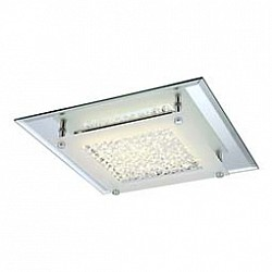 Накладной светильник GloboКвадратные<br>Артикул - GB_49300,Бренд - Globo (Австрия),Коллекция - Liana,Гарантия, месяцы - 24,Размер упаковки, мм - 300x75x300,Тип лампы - светодиодная [LED],Общее кол-во ламп - 1,Напряжение питания лампы, В - 38.4,Максимальная мощность лампы, Вт - 12,Лампы в комплекте - светодиодная [LED],Цвет плафонов и подвесок - неокрашенный с каймой,Тип поверхности плафонов - матовый, прозрачный,Материал плафонов и подвесок - стекло, хрусталь K5,Цвет арматуры - хром,Тип поверхности арматуры - глянцевый,Материал арматуры - металл,Возможность подлючения диммера - нельзя,Класс электробезопасности - I,Степень пылевлагозащиты, IP - 20,Диапазон рабочих температур - комнатная температура,Дополнительные параметры - способ крепления светильника к потолку и стене - на монтажной пластине<br>