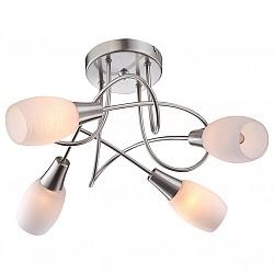 Потолочная люстра GloboНе более 4 ламп<br>Артикул - GB_54983-4D,Бренд - Globo (Австрия),Коллекция - Gillian,Гарантия, месяцы - 24,Высота, мм - 310,Диаметр, мм - 495,Тип лампы - компактная люминесцентная [КЛЛ] ИЛИнакаливания ИЛИсветодиодная [LED],Общее кол-во ламп - 4,Напряжение питания лампы, В - 220,Максимальная мощность лампы, Вт - 40,Лампы в комплекте - отсутствуют,Цвет плафонов и подвесок - белый,Тип поверхности плафонов - матовый,Материал плафонов и подвесок - стекло,Цвет арматуры - никель, хром,Тип поверхности арматуры - глянцевый, матовый,Материал арматуры - металл,Возможность подлючения диммера - можно, если установить лампу накаливания,Форма и тип колбы - свеча,Тип цоколя лампы - E14,Класс электробезопасности - I,Общая мощность, Вт - 160,Степень пылевлагозащиты, IP - 20,Диапазон рабочих температур - комнатная температура<br>