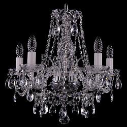 Подвесная люстра Bohemia Ivele Crystal5 или 6 ламп<br>Артикул - BI_1411_5_160_Ni,Бренд - Bohemia Ivele Crystal (Чехия),Коллекция - 1411,Гарантия, месяцы - 24,Высота, мм - 460,Диаметр, мм - 490,Размер упаковки, мм - 450x450x200,Тип лампы - компактная люминесцентная [КЛЛ] ИЛИнакаливания ИЛИсветодиодная [LED],Общее кол-во ламп - 5,Напряжение питания лампы, В - 220,Максимальная мощность лампы, Вт - 40,Лампы в комплекте - отсутствуют,Цвет плафонов и подвесок - неокрашенный,Тип поверхности плафонов - прозрачный,Материал плафонов и подвесок - хрусталь,Цвет арматуры - неокрашенный, никель,Тип поверхности арматуры - глянцевый, прозрачный,Материал арматуры - металл, стекло,Возможность подлючения диммера - можно, если установить лампу накаливания,Форма и тип колбы - свеча,Тип цоколя лампы - E14,Класс электробезопасности - I,Общая мощность, Вт - 200,Степень пылевлагозащиты, IP - 20,Диапазон рабочих температур - комнатная температура,Дополнительные параметры - способ крепления светильника к потолку – на крюке<br>