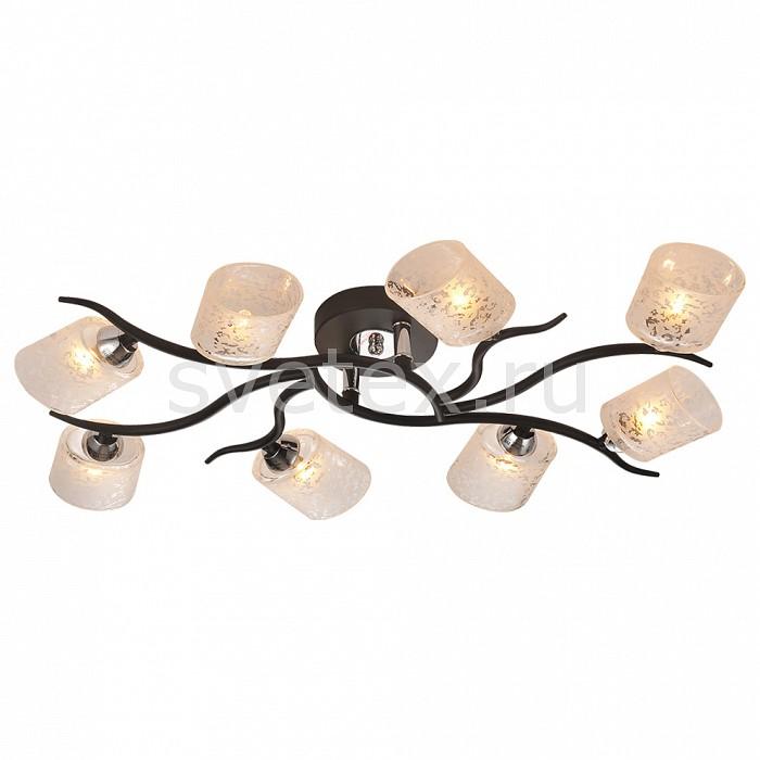 Потолочная люстра IDLampЛюстры<br>Артикул - ID_207_8PF-Black,Бренд - IDLamp (Италия),Коллекция - 207,Время изготовления, дней - 1,Длина, мм - 710,Ширина, мм - 415,Высота, мм - 110,Тип лампы - галогеновая,Общее кол-во ламп - 8,Напряжение питания лампы, В - 220,Максимальная мощность лампы, Вт - 40,Цвет лампы - белый теплый,Лампы в комплекте - галогеновые G9,Цвет плафонов и подвесок - белый с рисунком,Тип поверхности плафонов - матовый,Материал плафонов и подвесок - стекло,Цвет арматуры - хром, черный,Тип поверхности арматуры - глянцевый, матовый,Материал арматуры - металл,Количество плафонов - 8,Возможность подлючения диммера - можно,Форма и тип колбы - пальчиковая,Тип цоколя лампы - G9,Цветовая температура, K - 2800 - 3200 K,Экономичнее лампы накаливания - на 50%,Класс электробезопасности - I,Общая мощность, Вт - 320,Степень пылевлагозащиты, IP - 20,Диапазон рабочих температур - комнатная температура,Дополнительные параметры - способ крепления светильника к потолку – на монтажной пластине<br>