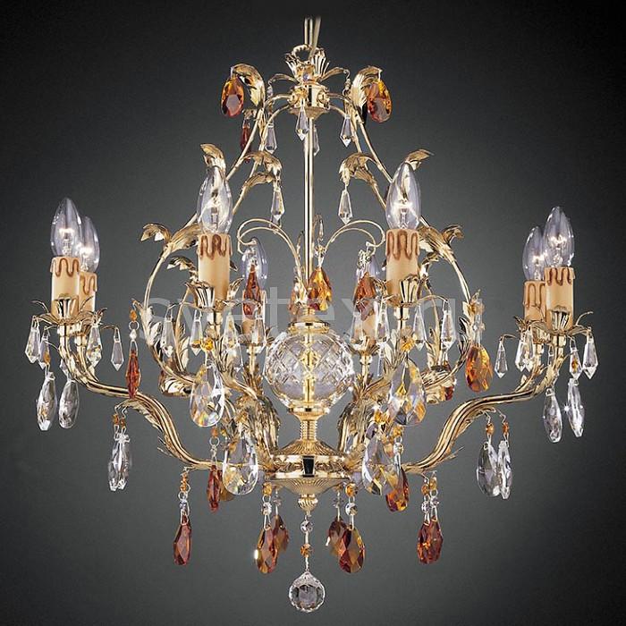 Подвесная люстра La LampadaБолее 6 ламп<br>Артикул - LL_L.13576-8.26,Бренд - La Lampada (Италия),Коллекция - 13576,Гарантия, месяцы - 24,Высота, мм - 500,Диаметр, мм - 660,Тип лампы - компактная люминесцентная [КЛЛ] ИЛИнакаливания ИЛИсветодиодная [LED],Общее кол-во ламп - 8,Напряжение питания лампы, В - 220,Максимальная мощность лампы, Вт - 40,Лампы в комплекте - отсутствуют,Цвет плафонов и подвесок - неокрашенный, топаз,Тип поверхности плафонов - прозрачный,Материал плафонов и подвесок - хрусталь,Цвет арматуры - золото,Тип поверхности арматуры - матовый, рельефный,Материал арматуры - металл,Возможность подлючения диммера - можно, если установить лампу накаливания,Тип цоколя лампы - E14,Класс электробезопасности - I,Общая мощность, Вт - 320,Степень пылевлагозащиты, IP - 20,Диапазон рабочих температур - комнатная температура,Дополнительные параметры - способ крепления светильника к потолку – на крюке, регулируется по высоте<br>