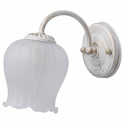 Бра De MarktС 1 лампой<br>Артикул - MW_450027801,Бренд - De Markt (Германия),Коллекция - Ариадна 26,Гарантия, месяцы - 24,Высота, мм - 200,Тип лампы - компактная люминесцентная [КЛЛ] ИЛИнакаливания ИЛИсветодиодная [LED],Общее кол-во ламп - 1,Напряжение питания лампы, В - 220,Максимальная мощность лампы, Вт - 60,Лампы в комплекте - отсутствуют,Цвет плафонов и подвесок - белый,Тип поверхности плафонов - матовый,Материал плафонов и подвесок - стекло,Цвет арматуры - белый с золотой патиной,Тип поверхности арматуры - глянцевый, матовый,Материал арматуры - металл,Возможность подлючения диммера - можно, если установить лампу накаливания,Тип цоколя лампы - E27,Класс электробезопасности - I,Степень пылевлагозащиты, IP - 20,Диапазон рабочих температур - комнатная температура,Дополнительные параметры - способ крепления светильника к стене - на монтажной пластине, светильник предназначен для использования со скрытой проводкой<br>