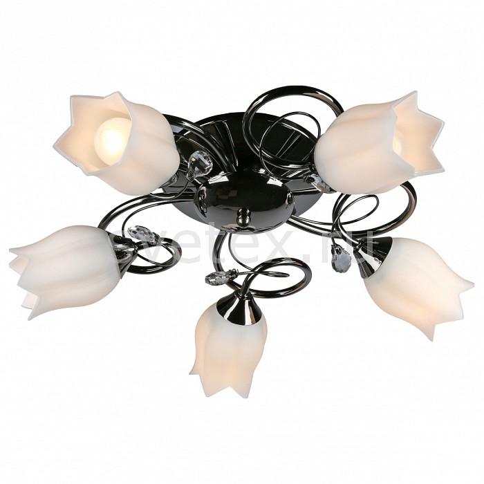 Потолочная люстра OmniluxЛюстры<br>Артикул - OM_OML-39707-05,Бренд - Omnilux (Италия),Коллекция - OML-397,Гарантия, месяцы - 12,Высота, мм - 200,Диаметр, мм - 500,Размер упаковки, мм - 370x320x150,Тип лампы - компактная люминесцентная [КЛЛ] ИЛИнакаливания ИЛИсветодиодная [LED],Общее кол-во ламп - 5,Напряжение питания лампы, В - 220,Максимальная мощность лампы, Вт - 60,Лампы в комплекте - отсутствуют,Цвет плафонов и подвесок - белый,Тип поверхности плафонов - матовый,Материал плафонов и подвесок - стекло,Цвет арматуры - хром черный,Тип поверхности арматуры - глянцевый,Материал арматуры - металл,Количество плафонов - 5,Возможность подлючения диммера - можно, если установить лампу накаливания,Тип цоколя лампы - E27,Класс электробезопасности - I,Общая мощность, Вт - 300,Степень пылевлагозащиты, IP - 20,Диапазон рабочих температур - комнатная температура,Дополнительные параметры - способ крепления светильника к потолку – на монтажной пластине<br>