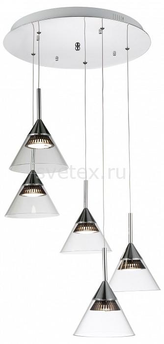 Подвесной светильник ST-LuceСветодиодные<br>Артикул - SL930.113.05,Бренд - ST-Luce (Италия),Коллекция - SL930,Гарантия, месяцы - 24,Время изготовления, дней - 1,Высота, мм - 1300,Диаметр, мм - 540,Размер упаковки, мм - 550х550х280,Тип лампы - светодиодная [LED],Общее кол-во ламп - 5,Напряжение питания лампы, В - 220,Максимальная мощность лампы, Вт - 7.2,Лампы в комплекте - светодиодные [LED],Цвет плафонов и подвесок - неокрашенный,Тип поверхности плафонов - прозрачный,Материал плафонов и подвесок - стекло,Цвет арматуры - хром,Тип поверхности арматуры - глянцевый,Материал арматуры - металл,Количество плафонов - 5,Возможность подлючения диммера - нельзя,Световой поток, лм - 5950,Экономичнее лампы накаливания - в 10 раз,Светоотдача, лм/Вт - 165,Класс электробезопасности - I,Общая мощность, Вт - 36,Степень пылевлагозащиты, IP - 20,Диапазон рабочих температур - комнатная температура,Дополнительные параметры - регулируется по высоте,  способ крепления светильника к потолку – на крюке<br>
