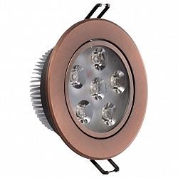 Встраиваемый светильник MW-LightВстраиваемые светильники<br>Артикул - MW_637013206,Бренд - MW-Light (Германия),Коллекция - Круз,Гарантия, месяцы - 24,Диаметр, мм - 100,Тип лампы - светодиодная [LED],Общее кол-во ламп - 6,Напряжение питания лампы, В - 220,Максимальная мощность лампы, Вт - 1,Лампы в комплекте - светодиодные [LED],Цвет арматуры - медный,Тип поверхности арматуры - матовый,Материал арматуры - металл,Класс электробезопасности - I,Общая мощность, Вт - 6,Степень пылевлагозащиты, IP - 20,Диапазон рабочих температур - комнатная температура,Дополнительные параметры - поворотный светильник<br>