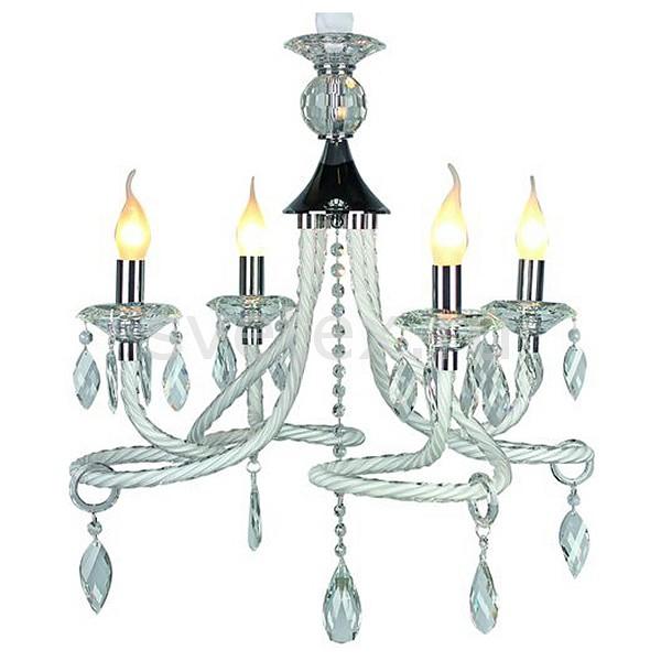 Подвесная люстра OmniluxНе более 4 ламп<br>Артикул - OM_OML-34303-04,Бренд - Omnilux (Италия),Коллекция - OM-343,Гарантия, месяцы - 24,Время изготовления, дней - 1,Высота, мм - 1750,Диаметр, мм - 600,Тип лампы - компактная люминесцентная [КЛЛ] ИЛИнакаливания ИЛИсветодиодная [LED],Общее кол-во ламп - 4,Напряжение питания лампы, В - 220,Максимальная мощность лампы, Вт - 40,Лампы в комплекте - отсутствуют,Цвет плафонов и подвесок - неокрашенный,Тип поверхности плафонов - прозрачный,Материал плафонов и подвесок - хрусталь,Цвет арматуры - белый, неокрашенный, хром,Тип поверхности арматуры - глянцевый, рельефный,Материал арматуры - металл, стекло,Возможность подлючения диммера - можно, если установить лампу накаливания,Форма и тип колбы - свеча ИЛИ свеча на ветру,Тип цоколя лампы - E14,Класс электробезопасности - I,Общая мощность, Вт - 160,Степень пылевлагозащиты, IP - 20,Диапазон рабочих температур - комнатная температура<br>