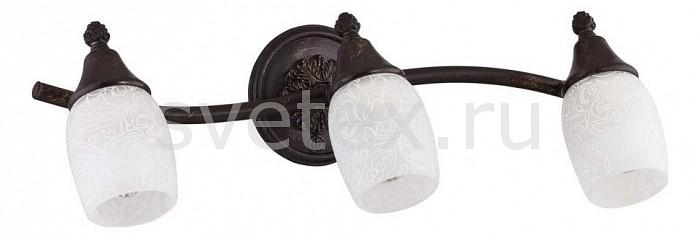 Спот MaytoniСпоты<br>Артикул - MY_ECO563-03-R,Бренд - Maytoni (Германия),Коллекция - Margaret,Гарантия, месяцы - 24,Длина, мм - 455,Ширина, мм - 158,Выступ, мм - 161,Размер упаковки, мм - 185x170x515,Тип лампы - компактная люминесцентная [КЛЛ] ИЛИнакаливания ИЛИсветодиодная [LED],Общее кол-во ламп - 3,Напряжение питания лампы, В - 220,Максимальная мощность лампы, Вт - 40,Лампы в комплекте - отсутствуют,Цвет плафонов и подвесок - белый с рисунком,Тип поверхности плафонов - матовый,Материал плафонов и подвесок - стекло,Цвет арматуры - бронза темная,Тип поверхности арматуры - матовый,Материал арматуры - металл,Количество плафонов - 3,Возможность подлючения диммера - можно, если установить лампу накаливания,Тип цоколя лампы - E14,Класс электробезопасности - I,Общая мощность, Вт - 120,Степень пылевлагозащиты, IP - 20,Диапазон рабочих температур - комнатная температура,Дополнительные параметры - способ крепления светильника к потолку и стене - на монтажной пластине, поворотный светильник<br>