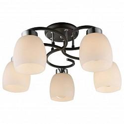 Потолочная люстра Globo5 или 6 ламп<br>Артикул - GB_69018-5,Бренд - Globo (Австрия),Коллекция - Pessoa IV,Гарантия, месяцы - 24,Высота, мм - 250,Диаметр, мм - 520,Тип лампы - компактная люминесцентная [КЛЛ] ИЛИнакаливания ИЛИсветодиодная [LED],Общее кол-во ламп - 5,Напряжение питания лампы, В - 220,Максимальная мощность лампы, Вт - 40,Лампы в комплекте - отсутствуют,Цвет плафонов и подвесок - белый,Тип поверхности плафонов - матовый,Материал плафонов и подвесок - стекло,Цвет арматуры - черный,Тип поверхности арматуры - глянцевый, матовый,Материал арматуры - металл,Количество плафонов - 5,Возможность подлючения диммера - можно, если установить лампу накаливания,Тип цоколя лампы - E27,Класс электробезопасности - I,Общая мощность, Вт - 200,Степень пылевлагозащиты, IP - 20,Диапазон рабочих температур - комнатная температура,Дополнительные параметры - способ крепления светильника к потолку – на монтажной пластине<br>