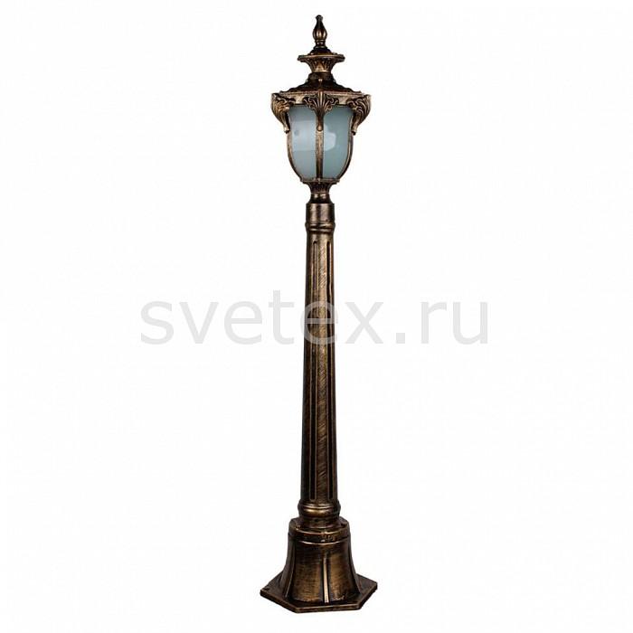 Наземный высокий светильник FeronСветильники<br>Артикул - FE_11426,Бренд - Feron (Китай),Коллекция - Флоренция,Гарантия, месяцы - 24,Ширина, мм - 175,Высота, мм - 1060,Выступ, мм - 200,Тип лампы - компактная люминесцентная [КЛЛ] ИЛИнакаливания ИЛИсветодиодная [LED],Общее кол-во ламп - 1,Напряжение питания лампы, В - 220,Максимальная мощность лампы, Вт - 60,Лампы в комплекте - отсутствуют,Цвет плафонов и подвесок - белый,Тип поверхности плафонов - матовый,Материал плафонов и подвесок - стекло,Цвет арматуры - золото черненое,Тип поверхности арматуры - матовый, рельефный,Материал арматуры - силумин,Количество плафонов - 1,Тип цоколя лампы - E27,Класс электробезопасности - I,Степень пылевлагозащиты, IP - 44,Диапазон рабочих температур - от -40^C до +40^C<br>