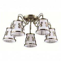 Потолочная люстра LumionТекстильные плафоны<br>Артикул - LMN_3285_5C,Бренд - Lumion (Италия),Коллекция - Fetida,Гарантия, месяцы - 24,Высота, мм - 280,Диаметр, мм - 600,Размер упаковки, мм - 250x430x300,Тип лампы - компактная люминесцентная [КЛЛ] ИЛИнакаливания ИЛИсветодиодная [LED],Общее кол-во ламп - 5,Напряжение питания лампы, В - 220,Максимальная мощность лампы, Вт - 60,Лампы в комплекте - отсутствуют,Цвет плафонов и подвесок - белый с бронзовым рисунком,Тип поверхности плафонов - матовый,Материал плафонов и подвесок - металл, текстиль,Цвет арматуры - бронза,Тип поверхности арматуры - матовый, металлик,Материал арматуры - металл,Возможность подлючения диммера - можно, если установить лампу накаливания,Тип цоколя лампы - E14,Класс электробезопасности - I,Общая мощность, Вт - 300,Степень пылевлагозащиты, IP - 20,Диапазон рабочих температур - комнатная температура,Дополнительные параметры - способ крепления к потолку - на монтажной пластине<br>