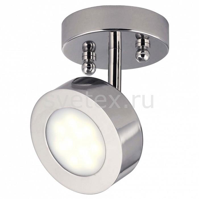 Спот Lustige 1724-1U FavouriteКруглые<br>Артикул - FV_1724-1U,Бренд - Favourite (Германия),Коллекция - Lustige,Гарантия, месяцы - 24,Выступ, мм - 150,Диаметр, мм - 100,Тип лампы - светодиодная [LED],Общее кол-во ламп - 1,Максимальная мощность лампы, Вт - 5,Цвет лампы - белый,Лампы в комплекте - светодиодная [LED],Цвет плафонов и подвесок - неокрашенный, хром,Тип поверхности плафонов - глянцевый, матовый,Материал плафонов и подвесок - акрил, металл,Цвет арматуры - хром,Тип поверхности арматуры - глянцевый,Материал арматуры - металл,Количество плафонов - 1,Возможность подлючения диммера - нельзя,Цветовая температура, K - 4000 K,Класс электробезопасности - I,Напряжение питания, В - 220,Степень пылевлагозащиты, IP - 20,Диапазон рабочих температур - комнатная температура,Дополнительные параметры - способ крепления к потолку и стене - на монтажной пластине, поворотный светильник, поворотный светильние<br>