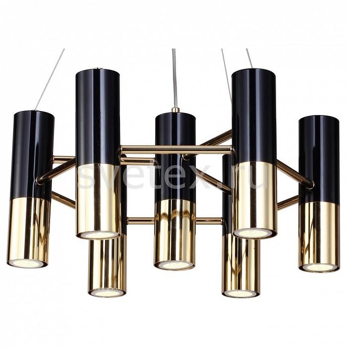 Подвесная люстра Ultra 1600-7P FavouriteМеталлические плафоны<br>Артикул - FV_1600-7P,Бренд - Favourite (Германия),Коллекция - Ultra,Гарантия, месяцы - 24,Высота, мм - 240-780,Диаметр, мм - 480,Тип лампы - светодиодная [LED],Общее кол-во ламп - 7,Напряжение питания лампы, В - 12,Максимальная мощность лампы, Вт - 4,Цвет лампы - белый,Лампы в комплекте - светодиодные [LED] GU5.3,Цвет плафонов и подвесок - золото, черный,Тип поверхности плафонов - глянцевый, матовый,Материал плафонов и подвесок - металл,Цвет арматуры - золото,Тип поверхности арматуры - глянцевый,Материал арматуры - металл,Количество плафонов - 7,Возможность подлючения диммера - нельзя,Компоненты, входящие в комплект - трансформатор 12В,Форма и тип колбы - полусферическая с рефлектором,Тип цоколя лампы - GU5.3,Цветовая температура, K - 4000 K,Экономичнее лампы накаливания - в 10 раз,Класс электробезопасности - I,Напряжение питания, В - 220,Общая мощность, Вт - 28,Степень пылевлагозащиты, IP - 20,Диапазон рабочих температур - комнатная температура,Дополнительные параметры - способ крепления светильника к потолку – на монтажной пластине, регулируется по высоте<br>