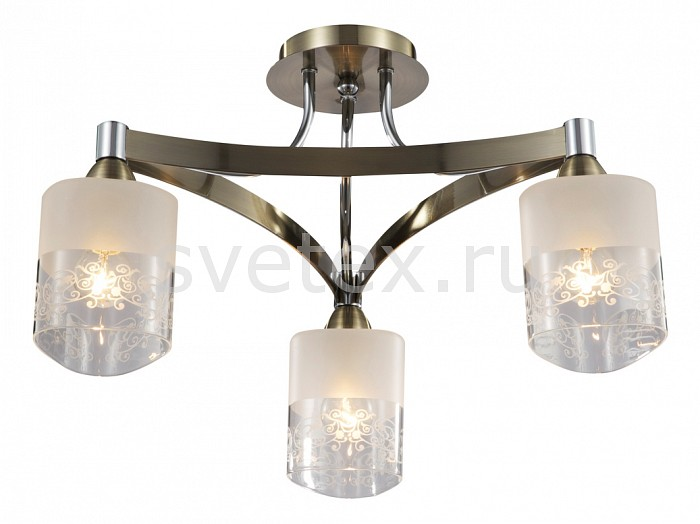 Потолочная люстра MaytoniЛюстры<br>Артикул - MY_TOC003-03-R,Бренд - Maytoni (Германия),Коллекция - Eurosize 3,Гарантия, месяцы - 24,Высота, мм - 220,Диаметр, мм - 507,Тип лампы - компактная люминесцентная [КЛЛ] ИЛИнакаливания ИЛИсветодиодная [LED],Общее кол-во ламп - 3,Напряжение питания лампы, В - 220,Максимальная мощность лампы, Вт - 60,Лампы в комплекте - отсутствуют,Цвет плафонов и подвесок - белый с неокрашенной каймой,Тип поверхности плафонов - матовый,Материал плафонов и подвесок - стекло,Цвет арматуры - бронза, хром,Тип поверхности арматуры - глянцевый,Материал арматуры - металл,Количество плафонов - 3,Возможность подлючения диммера - можно, если установить лампу накаливания,Тип цоколя лампы - E14,Класс электробезопасности - I,Общая мощность, Вт - 180,Степень пылевлагозащиты, IP - 20,Диапазон рабочих температур - комнатная температура<br>