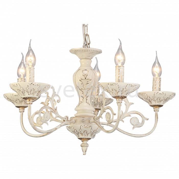 Подвесная люстра Arte LampЛюстры<br>Артикул - AR_A5326LM-5WG,Бренд - Arte Lamp (Италия),Коллекция - Faina,Гарантия, месяцы - 24,Высота, мм - 400,Диаметр, мм - 600,Тип лампы - компактная люминесцентная [КЛЛ] ИЛИнакаливания ИЛИсветодиодная [LED],Общее кол-во ламп - 5,Напряжение питания лампы, В - 220,Максимальная мощность лампы, Вт - 40,Лампы в комплекте - отсутствуют,Цвет арматуры - белый, золото,Тип поверхности арматуры - матовый, рельефный,Материал арматуры - керамика, металл,Возможность подлючения диммера - можно, если установить лампу накаливания,Форма и тип колбы - свеча ИЛИ свеча на ветру,Тип цоколя лампы - E14,Класс электробезопасности - I,Общая мощность, Вт - 200,Степень пылевлагозащиты, IP - 20,Диапазон рабочих температур - комнатная температура,Дополнительные параметры - способ крепления светильника к потолоку - на крюке, указана высота светильника без подвеса<br>