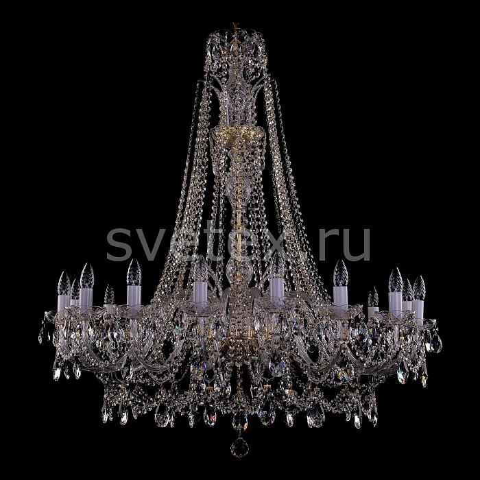 Фото Подвесная люстра Bohemia Ivele Crystal 1411 1411/16/400-115/G