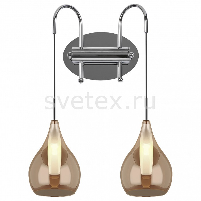 Бра LightstarНастенные светильники<br>Артикул - LS_803833,Бренд - Lightstar (Италия),Коллекция - Pentola,Гарантия, месяцы - 24,Ширина, мм - 340,Высота, мм - 280,Выступ, мм - 170,Тип лампы - галогеновая ИЛИсветодиодная [LED],Общее кол-во ламп - 2,Напряжение питания лампы, В - 220,Максимальная мощность лампы, Вт - 25,Лампы в комплекте - отсутствуют,Цвет плафонов и подвесок - белый, янтарный,Тип поверхности плафонов - глянцевый,Материал плафонов и подвесок - стекло,Цвет арматуры - хром,Тип поверхности арматуры - глянцевый,Материал арматуры - металл,Количество плафонов - 2,Возможность подлючения диммера - можно, если установить галогеновую лампу,Форма и тип колбы - пальчиковая,Тип цоколя лампы - G9,Класс электробезопасности - I,Общая мощность, Вт - 50,Степень пылевлагозащиты, IP - 20,Диапазон рабочих температур - комнатная температура,Дополнительные параметры - способ крепления светильника на стене – на монтажной пластине, светильник предназначен для использования со скрытой проводкой<br>