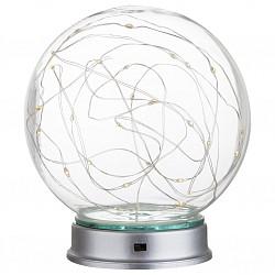 Настольная лампа GloboСтеклянный плафон<br>Артикул - GB_29934,Бренд - Globo (Австрия),Коллекция - Cosila,Гарантия, месяцы - 24,Высота, мм - 150,Диаметр, мм - 130,Тип лампы - светодиодная [LED],Общее кол-во ламп - 30,Напряжение питания лампы, В - 220,Максимальная мощность лампы, Вт - 0.03,Лампы в комплекте - светодиодные [LED],Цвет плафонов и подвесок - неокрашенный,Тип поверхности плафонов - прозрачный,Материал плафонов и подвесок - стекло,Цвет арматуры - хром,Тип поверхности арматуры - глянцевый,Материал арматуры - металл, полимер,Класс электробезопасности - II,Степень пылевлагозащиты, IP - 20,Диапазон рабочих температур - комнатная температура<br>