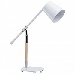 Настольная лампа MW-LightМеталлический плафон<br>Артикул - MW_680030201,Бренд - MW-Light (Германия),Коллекция - Акцент 5,Гарантия, месяцы - 24,Высота, мм - 620,Диаметр, мм - 190,Тип лампы - компактная люминесцентная [КЛЛ] ИЛИнакаливания ИЛИсветодиодная [LED],Общее кол-во ламп - 1,Напряжение питания лампы, В - 220,Максимальная мощность лампы, Вт - 40,Лампы в комплекте - отсутствуют,Цвет плафонов и подвесок - белый,Тип поверхности плафонов - матовый,Материал плафонов и подвесок - металл,Цвет арматуры - белый, коричневый, хром,Тип поверхности арматуры - глянцевый, матовый,Материал арматуры - дерево, металл,Тип цоколя лампы - E14,Класс электробезопасности - II,Степень пылевлагозащиты, IP - 20,Диапазон рабочих температур - комнатная температура,Дополнительные параметры - поворотный светильник<br>