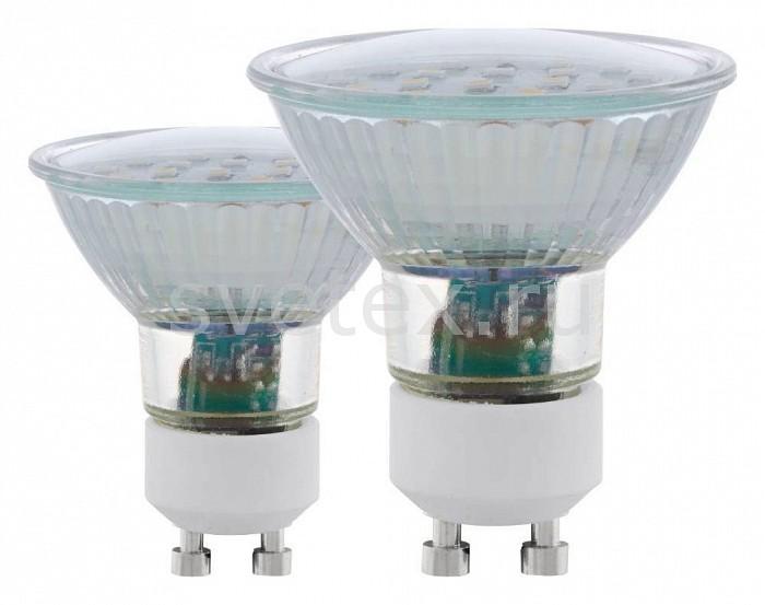 Комплект из 2 ламп светодиодных Eglogu10 светодиодные лампы<br>Артикул - EG_11537,Бренд - Eglo (Австрия),Коллекция - SMD,Время изготовления, дней - 1,Высота, мм - 58,Диаметр, мм - 56,Тип лампы - светодиодная [LED],Напряжение питания лампы, В - 220,Максимальная мощность лампы, Вт - 5,Цвет лампы - белый теплый,Форма и тип колбы - полусферическая с рефлектором,Тип цоколя лампы - GU10,Цветовая температура, K - 3000 K,Световой поток, лм - 400,Экономичнее лампы накаливания - в 7 раз,Ресурс лампы - 15 тыс. часов,Класс энергопотребления - A<br>