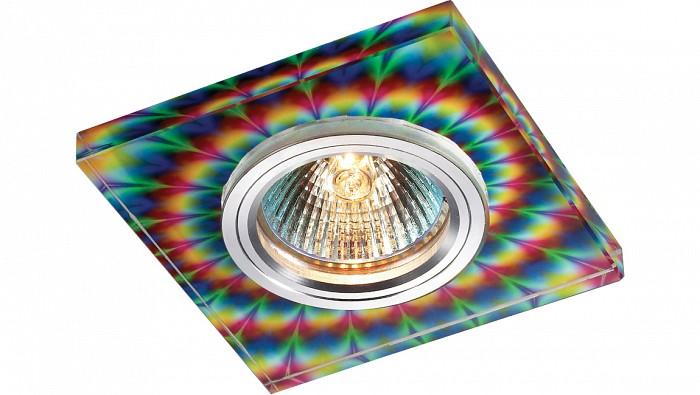 Встраиваемый светильник NovotechСветильники для натяжных потолков<br>Артикул - NV_369912,Бренд - Novotech (Венгрия),Коллекция - Rainbow,Гарантия, месяцы - 24,Время изготовления, дней - 1,Длина, мм - 90,Ширина, мм - 90,Выступ, мм - 13,Глубина, мм - 12,Размер врезного отверстия, мм - 65,Тип лампы - галогеновая ИЛИсветодиодная [LED],Общее кол-во ламп - 1,Напряжение питания лампы, В - 12,Максимальная мощность лампы, Вт - 50,Цвет лампы - белый теплый,Лампы в комплекте - отсутствуют,Цвет арматуры - алюминий, цветной рисунок,Тип поверхности арматуры - глянцевый,Материал арматуры - алюминиевый сплав, стекло,Количество плафонов - 1,Возможность подлючения диммера - можно, если установить галогеновую лампу и подключить трансформатор 12 В с возможностью диммирования,Необходимые компоненты - трансформатор 12 В,Компоненты, входящие в комплект - нет,Форма и тип колбы - полусферическая с рефлектором,Тип цоколя лампы - GX5.3,Цветовая температура, K - 2800 - 3200 K,Экономичнее лампы накаливания - на 50%,Класс электробезопасности - III,Напряжение питания, В - 220,Общая мощность, Вт - 50,Степень пылевлагозащиты, IP - 20,Диапазон рабочих температур - комнатная температура,Дополнительные параметры - электрохимическая полировка арматуры<br>