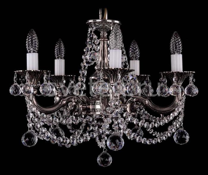 Фото Подвесная люстра Bohemia Ivele Crystal 1701 1701/5/C/NB/Balls