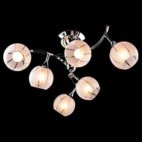 Светильник на штанге EurosvetСветодиодные<br>Артикул - EV_23625,Бренд - Eurosvet (Китай),Коллекция - 3353-3457,Гарантия, месяцы - 24,Высота, мм - 330,Диаметр, мм - 700,Тип лампы - компактная люминесцентная [КЛЛ] ИЛИнакаливания ИЛИсветодиодная [LED],Общее кол-во ламп - 6,Напряжение питания лампы, В - 220,Максимальная мощность лампы, Вт - 60,Лампы в комплекте - отсутствуют,Цвет плафонов и подвесок - белый полосатый, неокрашенный,Тип поверхности плафонов - матовый, прозрачный,Материал плафонов и подвесок - стекло, хрусталь,Цвет арматуры - хром,Тип поверхности арматуры - глянцевый,Материал арматуры - металл,Количество плафонов - 6,Возможность подлючения диммера - можно, если установить лампу накаливания,Тип цоколя лампы - E27,Класс электробезопасности - I,Общая мощность, Вт - 360,Степень пылевлагозащиты, IP - 20,Диапазон рабочих температур - комнатная температура,Дополнительные параметры - способ крепления светильника к потолку - на монтажной пластине, поворотный светильник<br>