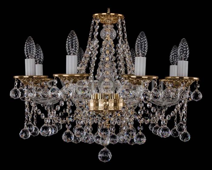 Фото Подвесная люстра Bohemia Ivele Crystal 1613 1613/8/200/G/Balls