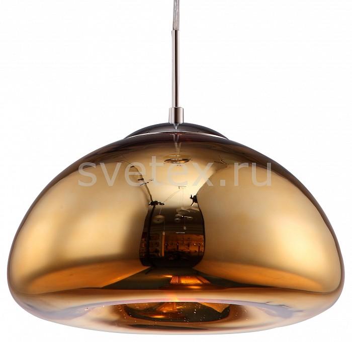 Подвесной светильник Arte LampБарные<br>Артикул - AR_A8041SP-1GO,Бренд - Arte Lamp (Италия),Коллекция - Swift,Гарантия, месяцы - 24,Высота, мм - 180-1200,Диаметр, мм - 300,Тип лампы - компактная люминесцентная [КЛЛ] ИЛИнакаливания ИЛИсветодиодная [LED],Общее кол-во ламп - 1,Напряжение питания лампы, В - 220,Максимальная мощность лампы, Вт - 40,Лампы в комплекте - отсутствуют,Цвет плафонов и подвесок - золото,Тип поверхности плафонов - глянцевый,Материал плафонов и подвесок - стекло,Цвет арматуры - хром,Тип поверхности арматуры - глянцевый,Материал арматуры - металл,Количество плафонов - 1,Возможность подлючения диммера - можно, если установить лампу накаливания,Тип цоколя лампы - E27,Класс электробезопасности - I,Степень пылевлагозащиты, IP - 20,Диапазон рабочих температур - комнатная температура,Дополнительные параметры - способ крепления светильника к потолку - на монтажной пластине<br>