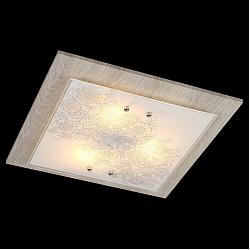Накладной светильник EurosvetКвадратные<br>Артикул - EV_76392,Бренд - Eurosvet (Китай),Коллекция - Муза,Гарантия, месяцы - 24,Высота, мм - 110,Тип лампы - компактная люминесцентная [КЛЛ] ИЛИнакаливания ИЛИсветодиодная [LED],Общее кол-во ламп - 3,Напряжение питания лампы, В - 220,Максимальная мощность лампы, Вт - 60,Лампы в комплекте - отсутствуют,Цвет плафонов и подвесок - белый с рисунком,Тип поверхности плафонов - матовый,Материал плафонов и подвесок - стекло,Цвет арматуры - коричневый, хром,Тип поверхности арматуры - глянцевый, матовый,Материал арматуры - дерево, металл,Возможность подлючения диммера - можно, если установить лампу накаливания,Тип цоколя лампы - E27,Класс электробезопасности - I,Общая мощность, Вт - 180,Степень пылевлагозащиты, IP - 20,Диапазон рабочих температур - комнатная температура,Дополнительные параметры - способ крепления светильника к потолку - на монтажной пластине<br>