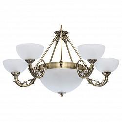 Подвесная люстра MW-LightБолее 6 ламп<br>Артикул - MW_450017308,Бренд - MW-Light (Германия),Коллекция - Ариадна 24,Гарантия, месяцы - 24,Высота, мм - 520-800,Диаметр, мм - 780,Тип лампы - компактные люминесцентные [КЛЛ] ИЛИнакаливания ИЛИсветодиодные [LED],Общее кол-во ламп - 8,Напряжение питания лампы, В - 220,Максимальная мощность лампы, Вт - 60,Лампы в комплекте - отсутствуют,Цвет плафонов и подвесок - белый,Тип поверхности плафонов - матовый,Материал плафонов и подвесок - стекло,Цвет арматуры - бронза античная,Тип поверхности арматуры - матовый, рельефный,Материал арматуры - металл,Возможность подлючения диммера - можно, если установить лампу накаливания,Тип цоколя лампы - E14, E27,Класс электробезопасности - I,Общая мощность, Вт - 480,Степень пылевлагозащиты, IP - 20,Диапазон рабочих температур - комнатная температура,Дополнительные параметры - регулируется по высоте,  способ крепления светильника к потолку – на крюке<br>