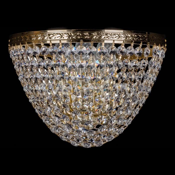 Фото Накладной светильник Bohemia Ivele Crystal 1925 1925/3/W/G