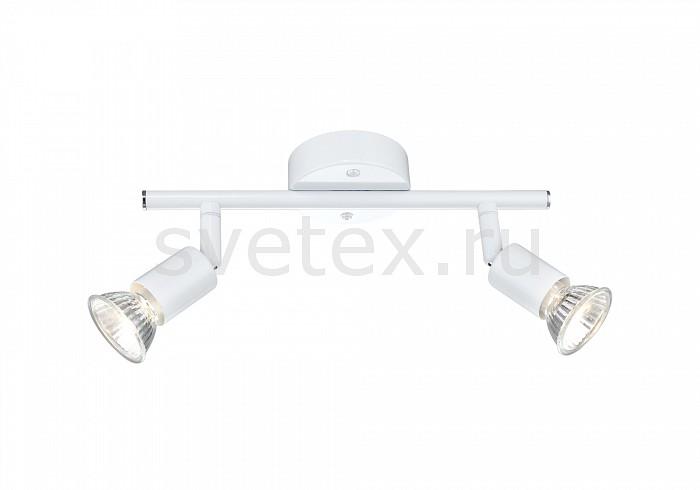 Спот GloboС 2 лампами<br>Артикул - GB_57381-2,Бренд - Globo (Австрия),Коллекция - Olana,Гарантия, месяцы - 24,Длина, мм - 260,Выступ, мм - 140,Тип лампы - галогеновая,Общее кол-во ламп - 2,Напряжение питания лампы, В - 230,Максимальная мощность лампы, Вт - 50,Цвет лампы - белый теплый,Лампы в комплекте - галогеновые GU10,Цвет арматуры - белый,Тип поверхности арматуры - глянцевый,Материал арматуры - металл,Возможность подлючения диммера - можно,Форма и тип колбы - полусферическая с рефлектором,Тип цоколя лампы - GU10,Цветовая температура, K - 2800 - 3200 K,Экономичнее лампы накаливания - на 50%,Класс электробезопасности - I,Общая мощность, Вт - 100,Степень пылевлагозащиты, IP - 20,Диапазон рабочих температур - комнатная температура,Дополнительные параметры - поворотный светильник<br>