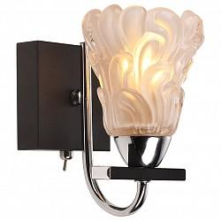 Бра IDLampС 1 лампой<br>Артикул - ID_217_1A-Blackchrome,Бренд - IDLamp (Италия),Коллекция - 217,Высота, мм - 160,Тип лампы - компактная люминесцентная [КЛЛ] ИЛИнакаливания ИЛИсветодиодная [LED],Общее кол-во ламп - 1,Напряжение питания лампы, В - 220,Максимальная мощность лампы, Вт - 60,Лампы в комплекте - отсутствуют,Цвет плафонов и подвесок - неокрашенный,Тип поверхности плафонов - матовый, рельефный,Материал плафонов и подвесок - стекло,Цвет арматуры - хром, черный,Тип поверхности арматуры - глянцевый, матовый,Материал арматуры - металл,Возможность подлючения диммера - можно, если установить лампу накаливания,Тип цоколя лампы - E14,Класс электробезопасности - I,Степень пылевлагозащиты, IP - 20,Диапазон рабочих температур - комнатная температура,Дополнительные параметры - светильник предназначен для использования со скрытой проводкой, способ крепления светильника к стене – на монтажной пластине<br>