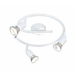 Спот GloboС 3 лампами<br>Артикул - GB_57381-3,Бренд - Globo (Австрия),Коллекция - Olana,Гарантия, месяцы - 24,Диаметр, мм - 290,Тип лампы - галогеновая,Общее кол-во ламп - 3,Напряжение питания лампы, В - 230,Максимальная мощность лампы, Вт - 50,Лампы в комплекте - галогеновые GU10,Цвет арматуры - белый,Тип поверхности арматуры - глянцевый,Материал арматуры - металл,Возможность подлючения диммера - можно,Форма и тип колбы - полусферическая с рефлектором,Тип цоколя лампы - GU10,Класс электробезопасности - I,Общая мощность, Вт - 150,Степень пылевлагозащиты, IP - 20,Диапазон рабочих температур - комнатная температура,Дополнительные параметры - поворотный светильник<br>