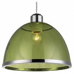 Подвесной светильник GloboДля кухни<br>Артикул - GB_15183,Бренд - Globo (Австрия),Коллекция - Carlo,Гарантия, месяцы - 24,Высота, мм - 1200,Диаметр, мм - 230,Тип лампы - компактная люминесцентная [КЛЛ] ИЛИнакаливания ИЛИсветодиодная [LED],Общее кол-во ламп - 1,Напряжение питания лампы, В - 220,Максимальная мощность лампы, Вт - 40,Лампы в комплекте - отсутствуют,Цвет плафонов и подвесок - зеленый с хромированной каймой,Тип поверхности плафонов - прозрачный,Материал плафонов и подвесок - акрил,Цвет арматуры - хром,Тип поверхности арматуры - глянцевый,Материал арматуры - металл,Возможность подлючения диммера - можно, если установить лампу накаливания,Тип цоколя лампы - E27,Класс электробезопасности - I,Степень пылевлагозащиты, IP - 20,Диапазон рабочих температур - комнатная температура,Дополнительные параметры - способ крепления к потолку - на монтажной пластине, регулируется по высоте<br>