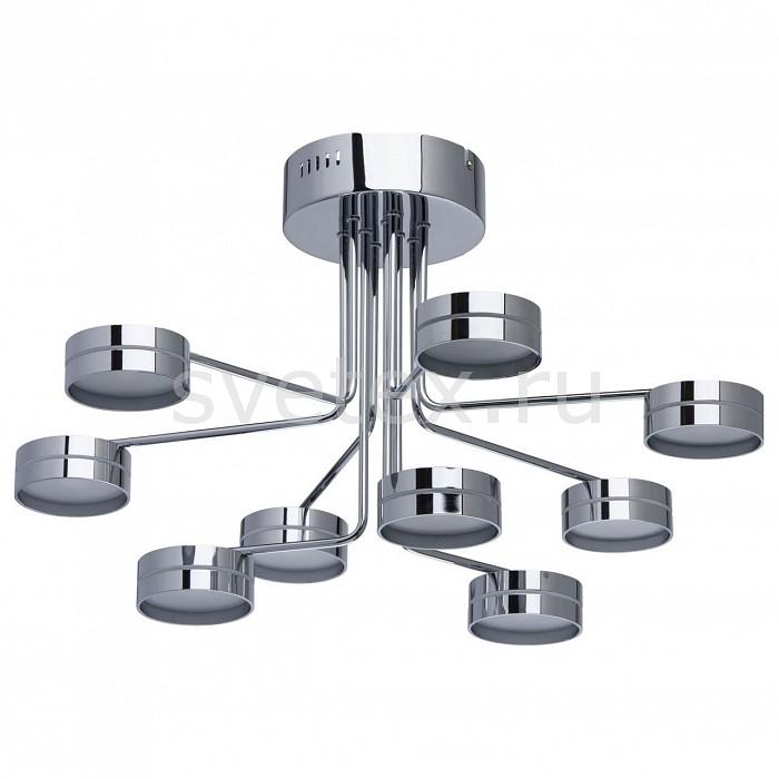 Люстра на штанге MW-LightМеталлические плафоны<br>Артикул - MW_632014309,Бренд - MW-Light (Германия),Коллекция - Гэлэкси 10,Гарантия, месяцы - 24,Время изготовления, дней - 1,Высота, мм - 355,Диаметр, мм - 570,Тип лампы - светодиодная [LED],Общее кол-во ламп - 9,Напряжение питания лампы, В - 220,Максимальная мощность лампы, Вт - 5,Цвет лампы - белый теплый,Лампы в комплекте - светодиодные [LED],Цвет плафонов и подвесок - неокрашенный, хром,Тип поверхности плафонов - глянцевый, матовый,Материал плафонов и подвесок - металл, стекло,Цвет арматуры - хром,Тип поверхности арматуры - глянцевый,Материал арматуры - металл,Количество плафонов - 9,Возможность подлючения диммера - нельзя,Цветовая температура, K - 3000 K,Световой поток, лм - 3645,Экономичнее лампы накаливания - в 5.2 раза,Светоотдача, лм/Вт - 81,Класс электробезопасности - I,Общая мощность, Вт - 45,Степень пылевлагозащиты, IP - 20,Диапазон рабочих температур - комнатная температура,Дополнительные параметры - способ крепления светильника к потолку – на монтажной пластине<br>
