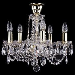 Подвесная люстра Bohemia Ivele Crystal5 или 6 ламп<br>Артикул - BI_1402_5_141_G_Tube,Бренд - Bohemia Ivele Crystal (Чехия),Коллекция - 1402,Гарантия, месяцы - 24,Высота, мм - 340,Диаметр, мм - 420,Размер упаковки, мм - 450x450x200,Тип лампы - компактная люминесцентная [КЛЛ] ИЛИнакаливания ИЛИсветодиодная [LED],Общее кол-во ламп - 5,Напряжение питания лампы, В - 220,Максимальная мощность лампы, Вт - 40,Лампы в комплекте - отсутствуют,Цвет плафонов и подвесок - неокрашенный,Тип поверхности плафонов - прозрачный,Материал плафонов и подвесок - хрусталь,Цвет арматуры - золото, неокрашенный,Тип поверхности арматуры - глянцевый, прозрачный, рельефный,Материал арматуры - металл, стекло,Возможность подлючения диммера - можно, если установить лампу накаливания,Форма и тип колбы - свеча ИЛИ свеча на ветру,Тип цоколя лампы - E14,Класс электробезопасности - I,Общая мощность, Вт - 200,Степень пылевлагозащиты, IP - 20,Диапазон рабочих температур - комнатная температура,Дополнительные параметры - способ крепления светильника к потолку - на крюке, указана высота светильника без подвеса<br>