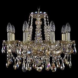 Подвесная люстра Bohemia Ivele CrystalБолее 6 ламп<br>Артикул - BI_1413_8_165_G_M701,Бренд - Bohemia Ivele Crystal (Чехия),Коллекция - 1413,Гарантия, месяцы - 24,Высота, мм - 400,Диаметр, мм - 510,Размер упаковки, мм - 450x450x200,Тип лампы - компактная люминесцентная [КЛЛ] ИЛИнакаливания ИЛИсветодиодная [LED],Общее кол-во ламп - 8,Напряжение питания лампы, В - 220,Максимальная мощность лампы, Вт - 40,Лампы в комплекте - отсутствуют,Цвет плафонов и подвесок - неокрашенный,Тип поверхности плафонов - прозрачный,Материал плафонов и подвесок - хрусталь Swarovski,Цвет арматуры - золото, неокрашенный,Тип поверхности арматуры - глянцевый, прозрачный, рельефный,Материал арматуры - металл, стекло Swarovski,Возможность подлючения диммера - можно, если установить лампу накаливания,Форма и тип колбы - свеча ИЛИ свеча на ветру,Тип цоколя лампы - E14,Класс электробезопасности - I,Общая мощность, Вт - 320,Степень пылевлагозащиты, IP - 20,Диапазон рабочих температур - комнатная температура,Дополнительные параметры - способ крепления светильника к потолку - на крюке, указана высота светильника без подвеса<br>