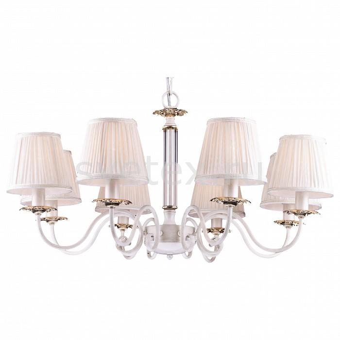 Подвесная люстра Arte LampСветильники<br>Артикул - AR_A2065LM-8WG,Бренд - Arte Lamp (Италия),Коллекция - Felicita,Гарантия, месяцы - 24,Время изготовления, дней - 1,Высота, мм - 400-900,Диаметр, мм - 800,Тип лампы - компактная люминесцентная [КЛЛ] ИЛИнакаливания ИЛИсветодиодная [LED],Общее кол-во ламп - 8,Напряжение питания лампы, В - 220,Максимальная мощность лампы, Вт - 60,Лампы в комплекте - отсутствуют,Цвет плафонов и подвесок - белый,Тип поверхности плафонов - матовый,Материал плафонов и подвесок - текстиль,Цвет арматуры - белый, золото,Тип поверхности арматуры - глянцевый,Материал арматуры - металл,Количество плафонов - 8,Возможность подлючения диммера - можно, если установить лампу накаливания,Тип цоколя лампы - E14,Класс электробезопасности - I,Общая мощность, Вт - 480,Степень пылевлагозащиты, IP - 20,Диапазон рабочих температур - комнатная температура,Дополнительные параметры - способ крепления светильника к потолку – на монтажной пластине или крюке<br>