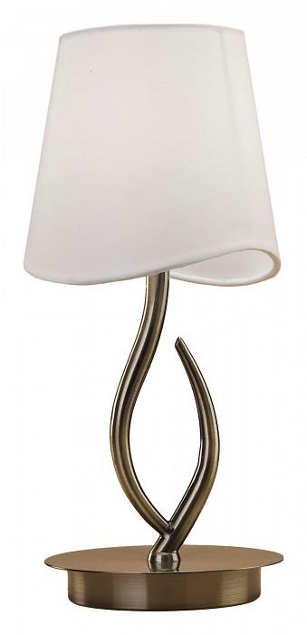 Настольная лампа MantraС абажуром<br>Артикул - MN_1925,Бренд - Mantra (Испания),Коллекция - Ninette,Гарантия, месяцы - 24,Время изготовления, дней - 1,Высота, мм - 373,Диаметр, мм - 200,Тип лампы - компактная люминесцентная [КЛЛ] ИЛИсветодиодная [LED],Общее кол-во ламп - 1,Напряжение питания лампы, В - 220,Максимальная мощность лампы, Вт - 20,Лампы в комплекте - отсутствуют,Цвет плафонов и подвесок - белый,Тип поверхности плафонов - матовый,Материал плафонов и подвесок - текстиль,Цвет арматуры - бронза античная,Тип поверхности арматуры - глянцевый,Материал арматуры - металл,Количество плафонов - 1,Наличие выключателя, диммера или пульта ДУ - выключатель на проводе,Компоненты, входящие в комплект - провод электропитания с вилкой без заземления,Тип цоколя лампы - E14,Экономичнее лампы накаливания - в 5 раз,Класс электробезопасности - II,Степень пылевлагозащиты, IP - 20,Диапазон рабочих температур - комнатная температура<br>