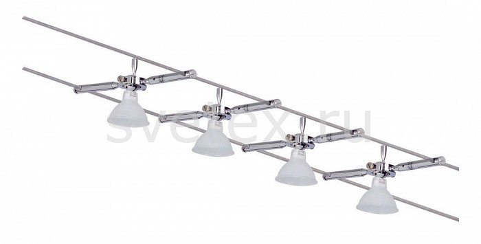 Комплект PaulmannСтрунные светильники<br>Артикул - PA_97469,Бренд - Paulmann (Германия),Коллекция - Togo,Гарантия, месяцы - 24,Длина, мм - 10000,Ширина, мм - 160,Тип лампы - галогеновая,Общее кол-во ламп - 4,Напряжение питания лампы, В - 220,Максимальная мощность лампы, Вт - 35,Лампы в комплекте - галогеновые GU5.3,Цвет арматуры - хром,Цвет - хром,Тип поверхности арматуры - глянцевый,Материал арматуры - металл,Материал - металл,Форма и тип колбы - полусферическая с рефлектором,Тип цоколя лампы - GU5.3,Световой поток, лм - 2128,Экономичнее лампы накаливания - На 50%,Светоотдача, лм/Вт - 15,Класс электробезопасности - I,Общая мощность, Вт - 140,Степень пылевлагозащиты, IP - 20,Диапазон рабочих температур - комнатная температура,Дополнительные параметры - расстояние между струнами 160 мм<br>