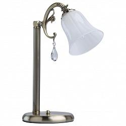 Настольная лампа MW-LightСтеклянный плафон<br>Артикул - MW_317034201,Бренд - MW-Light (Германия),Коллекция - Афродита 5,Гарантия, месяцы - 24,Высота, мм - 410,Тип лампы - компактная люминесцентная [КЛЛ] ИЛИнакаливания ИЛИсветодиодная [LED],Общее кол-во ламп - 1,Напряжение питания лампы, В - 220,Максимальная мощность лампы, Вт - 60,Лампы в комплекте - отсутствуют,Цвет плафонов и подвесок - белый, неокрашенный,Тип поверхности плафонов - матовый, прозрачный,Материал плафонов и подвесок - стекло, хрусталь,Цвет арматуры - бронза античная,Тип поверхности арматуры - матовый, рельефный,Материал арматуры - металл,Тип цоколя лампы - E14,Класс электробезопасности - II,Степень пылевлагозащиты, IP - 20,Диапазон рабочих температур - комнатная температура<br>
