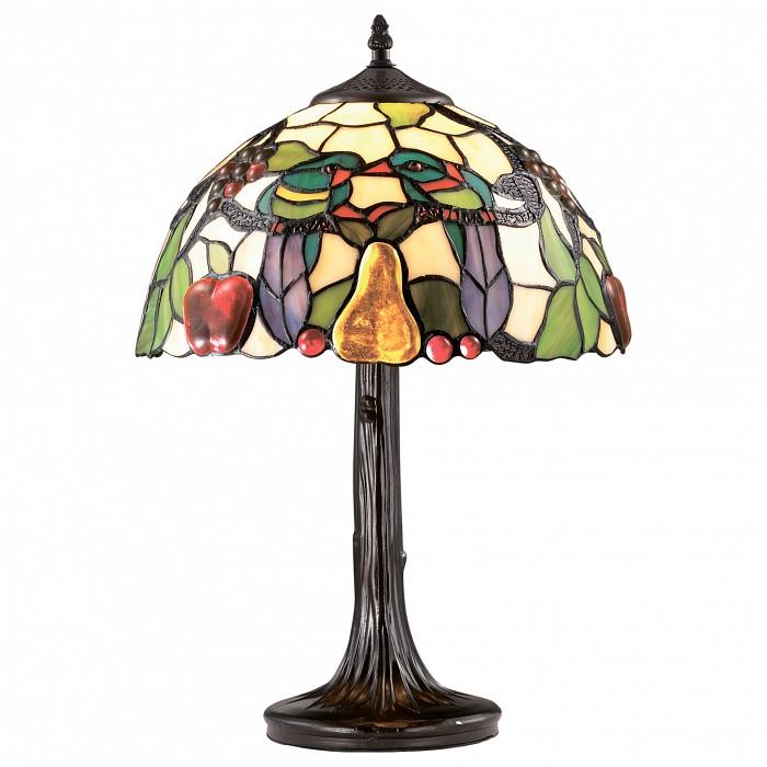 Настольная лампа Odeon LightСтеклянный плафон<br>Артикул - OD_2639_1T,Бренд - Odeon Light (Италия),Коллекция - Carotti,Гарантия, месяцы - 24,Время изготовления, дней - 1,Высота, мм - 490,Диаметр, мм - 310,Тип лампы - компактная люминесцентная [КЛЛ] ИЛИнакаливания ИЛИсветодиодная [LED],Общее кол-во ламп - 1,Напряжение питания лампы, В - 220,Максимальная мощность лампы, Вт - 60,Лампы в комплекте - отсутствуют,Цвет плафонов и подвесок - разноцветный,Тип поверхности плафонов - матовый,Материал плафонов и подвесок - стекло,Цвет арматуры - коричневый,Тип поверхности арматуры - матовый, рельефный,Материал арматуры - металл,Количество плафонов - 1,Наличие выключателя, диммера или пульта ДУ - выключатель на проводе,Компоненты, входящие в комплект - провод электропитания с вилкой без заземления,Тип цоколя лампы - E27,Класс электробезопасности - II,Степень пылевлагозащиты, IP - 20,Диапазон рабочих температур - комнатная температура,Дополнительные параметры - стиль Тиффани<br>