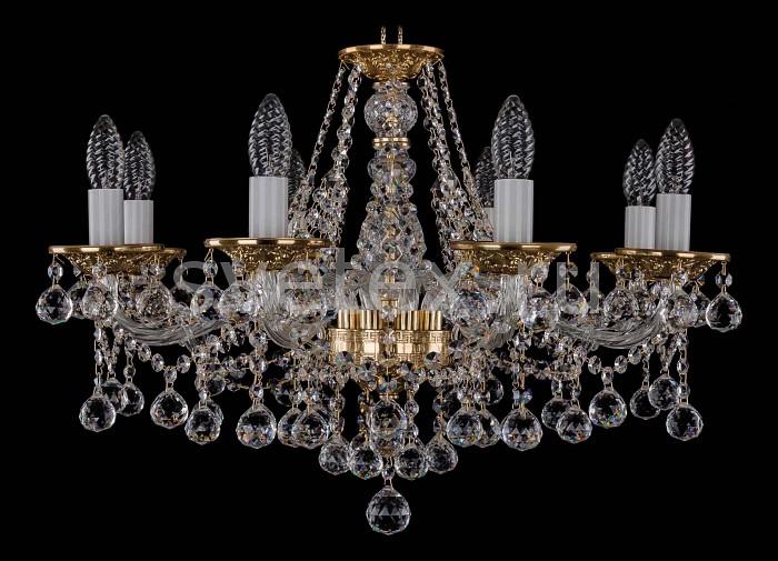 Фото Подвесная люстра Bohemia Ivele Crystal 1613 1613/8/220/G/Balls