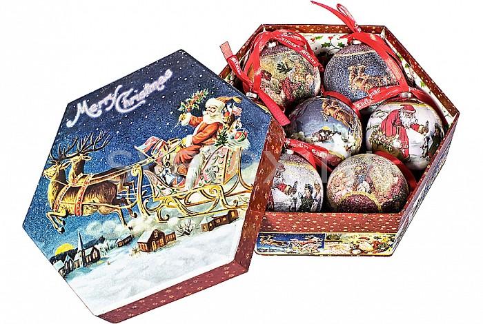 Елочный шар Mister ChristmasЕлочные игрушки<br>Артикул - MC_PM-41-7,Бренд - Mister Christmas (Россия),Коллекция - PM-41,Диаметр, мм - 75,Диаметр - 7.5 см,Цвет - синий, бордовый,Материал - папье-маше<br>