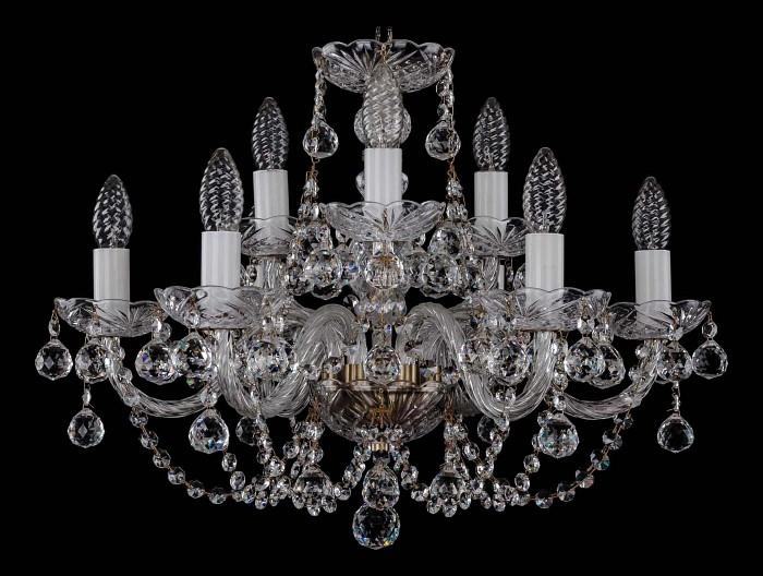 Фото Подвесная люстра Bohemia Ivele Crystal 1406 1406/6_3/195/Pa/Balls