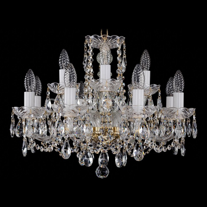 Фото Подвесная люстра Bohemia Ivele Crystal 1402 1402/8_4/195/G